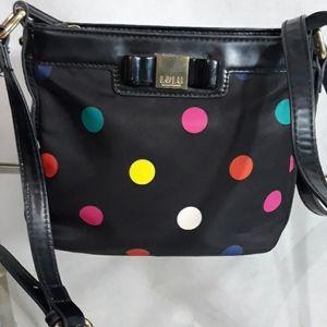 LULU Black and colorful polka dot crossbody